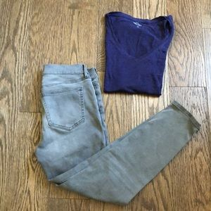 Ann Taylor Gray Skinny Jeans